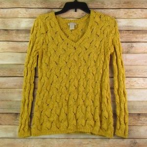 Lucky Brand Goldenrod Knit Sweater M